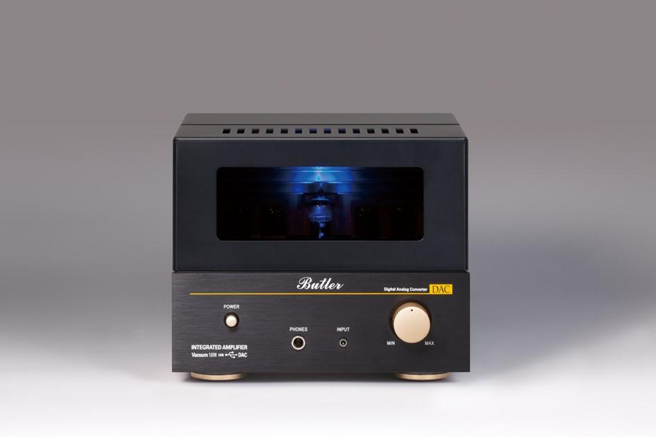 Butler バトラー 真空管アンプ Vacuum 18W(DAC) USB DAC搭載 ヘッドフォン端子付き入力段にEC83(12AX7)×1 出力段にFETハイブリッドのプリメインアンプ