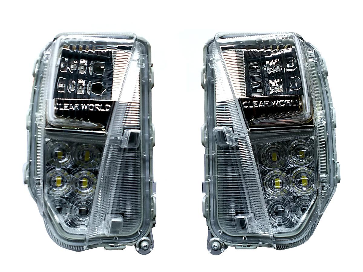【特価】トヨタ 30プリウス後期用 LEDフロントバンパーウインカー クリアワールド シーケンシャル(流れるウインカー) クリアレンズ デイライト機能搭載 FCT-18