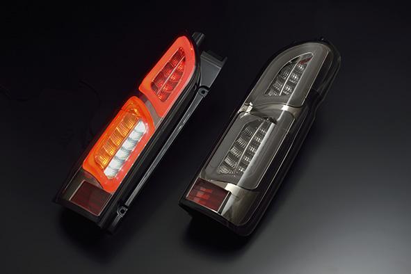 トヨタ 200ハイエース H200用 2004/08~  (H16/08~  )CLEAR WORLD(クリアワールド)  チューブフルLEDテールランプ (スモークレンズ) CTT-43 テールランプ テールレンズ
