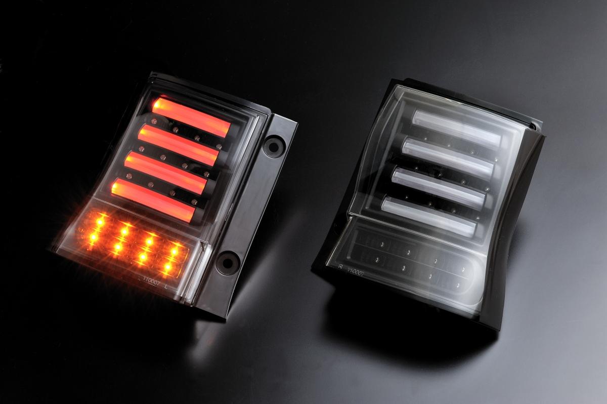 ダイハツ タントカスタム L375.L385用 2007/12~    (H19/12~   )クリアワールド LEDテールランプ チューブデュアルLED (ブラック) CTD-12 テールランプ テールレンズ