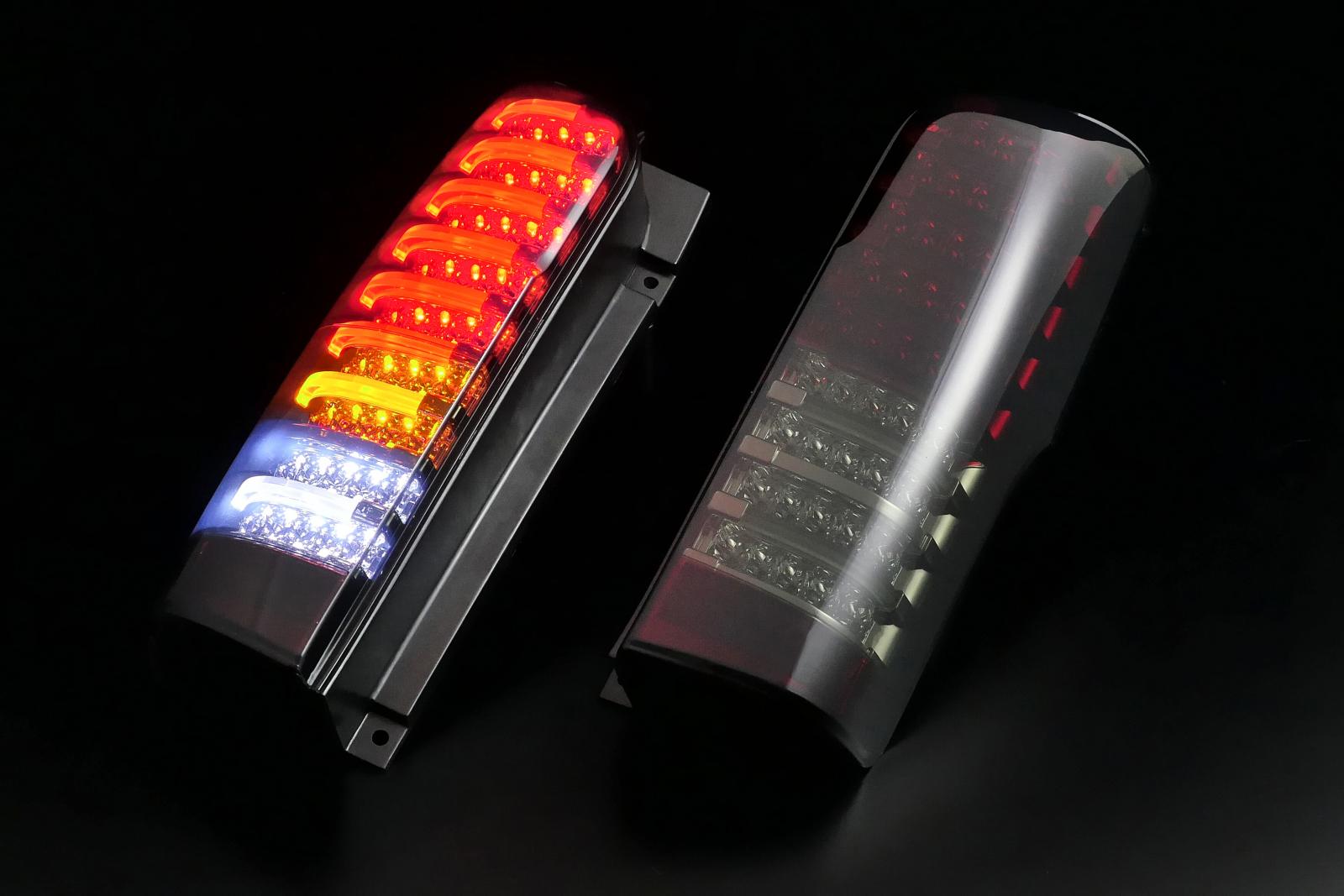 【期間限定特価】ニッサン NV350 キャラバン チューブフルLEDテール 2012/06~2017/07(H24/06~H29/07) (インナーレッドクローム/スモークレンズ) クリアワールドチューブフル LEDテールランプ RTN-19