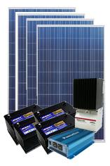 【小規模発電】[独立電源1020W]別荘&山小屋用パッケージシステム2