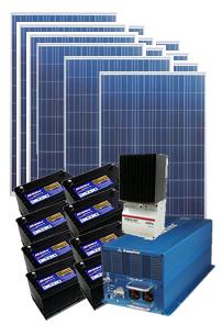 【小規模発電】[独立電源3060W]別荘&山小屋用パッケージシステム4