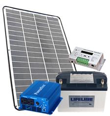 【防災】【家庭用蓄電池】軽量型ソーラー発電セットシステム2【マラソン201302_日用品】Marathon05P02feb13