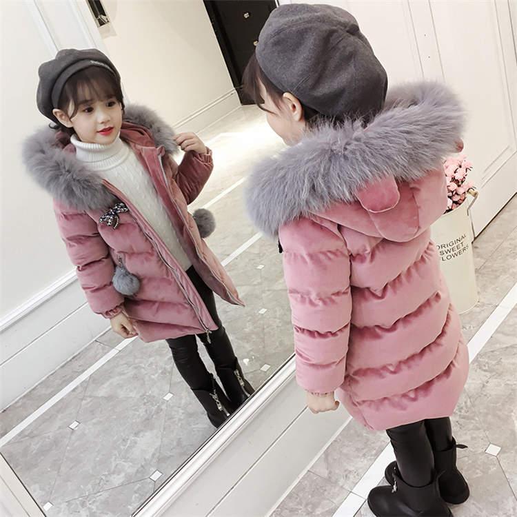 アウター ジュニア ダウンコート 子供服 防寒対策 ジャケット ダウンコート 女の子 子供用 フード付き 韓国風 おしゃれ 可愛い シンプル ゆったり コート ミディアム 軽量 もこもこ エレガント 快適 中綿入り ファーコート 防風防寒 卒業式 小学生 TZ-206