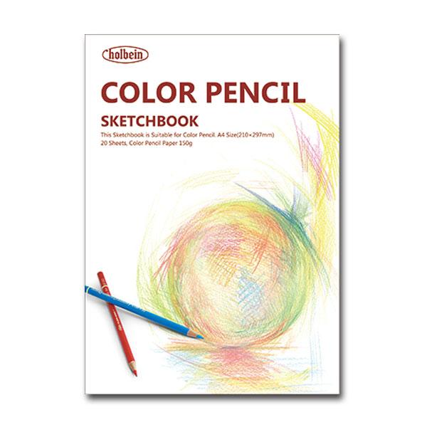 メーカー希望小売価格 全品送料無料 ホルベイン 色鉛筆画用スケッチブック YCP-A4 20枚入 サイズ=A4 中紙=H画用紙 マーケティング