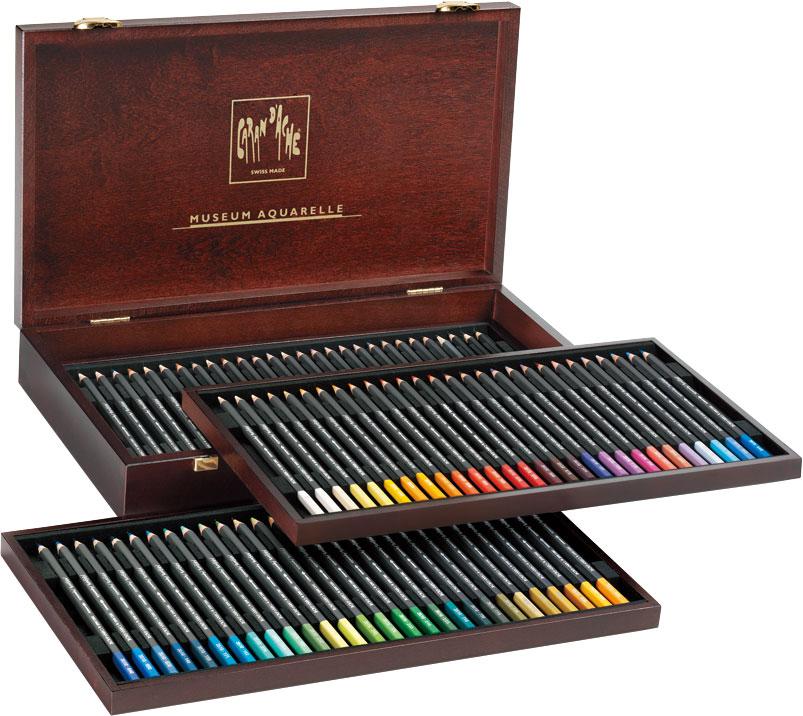カランダッシュ ミュージアム アクアレル 水彩色鉛筆 76色木箱セット