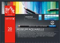 カランダッシュ ミュージアム アクアレル 水彩色鉛筆 20色セット マリン