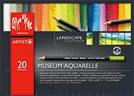 カランダッシュ ミュージアム アクアレル 水彩色鉛筆 20色セット ランドスケープ