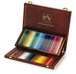 カランダッシュ水彩色鉛筆 スプラカラーソフト 80色 木箱セット