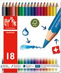 メーカー希望小売価格 大人気 カランダッシュ ファンカラー 送料無料/新品 18色セット 水溶性色鉛筆