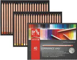 カランダッシュ鉛筆 ルミナンス 6901 40色セット 紙箱