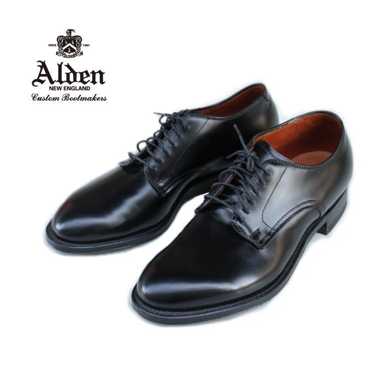 オールデン ALDEN DRESS CALF PLAIN TOE 53507 プレーントゥ BLACK ブラック リジェクト品 お手入れしやすいカーフ 24.5cm 小さめ 箱なし