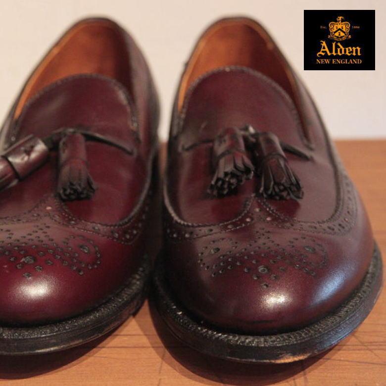 オールデン ALDEN 553 Long Wing Tassel オールデン ロングウィングタッセルカーフスキン バーガンディ ローファー カーフ ブラック BLACK ローカット 革靴 ブーツ 新品