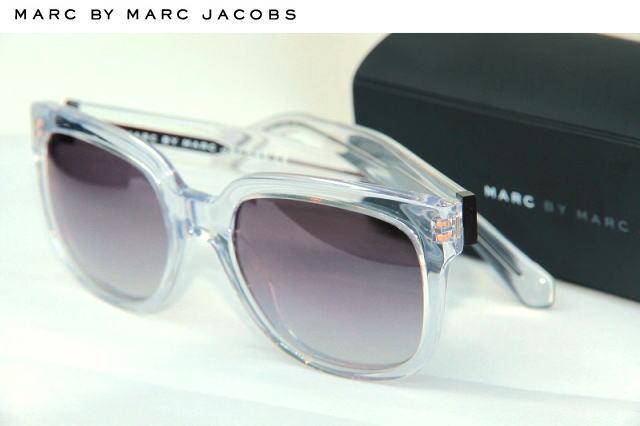 【MARC BY MARC JACOBS アメリカ現地買付品 サングラス】送料無料! クリア×グレーレンズ メンズ・レディース兼用 サングラス Marc Jacobs マークジェイコブス