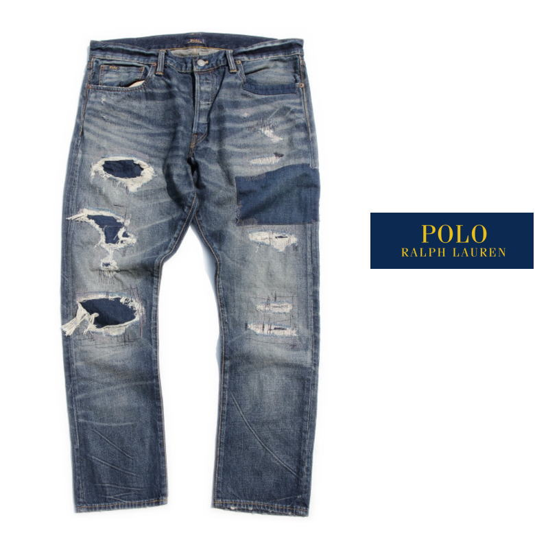 Polo Ralph Lauren ポロラルフローレン デニムパンツ DENIM PANTS クラッシュ加工 36インチ THE SULLIVAN SLIM