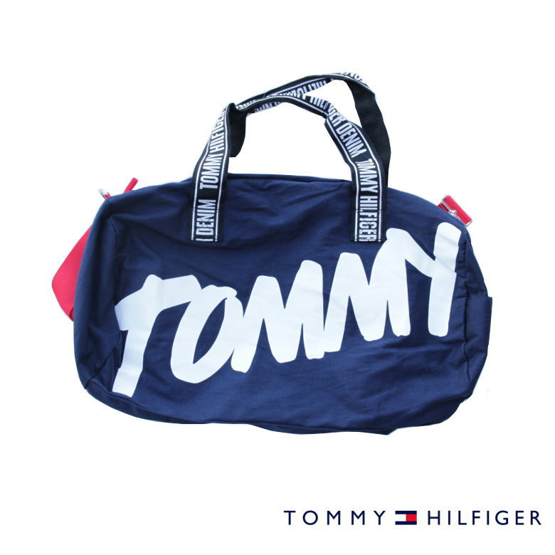 TOMMY HILFIGER トミーヒルフィガー ボストンバッグ BOSTON BAG NAVY 収納力抜群♪ アメリカ買付品!NEW デザイン♪