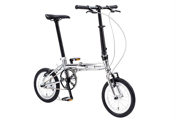 【2018モデル RENAULT ルノー Cr-Mo LIGHT8(ライト8 クロモリ140)】 14インチ 折畳自転車 超軽量8.5kg!クロモリフレームを磨き上げ、クロムメッキを施した輝き。高さ調整機能付きアルミハンドルステムを装備!走行性に美しさを加えたモデル