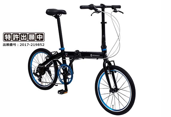 2018モデル RENAULT ルノー LIGHT10 (ライト10 AL207) 20インチ 折畳自転車 10.8kg!軽量アルミフレーム・外装7段変速・高さ調整機能付きアルミハンドルステム装備でロングライドにも対応!