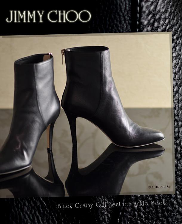 ジミーチュウ ショート ブーツ 本革 アンクル ポインテッドトゥ JIMMY CHOO BROCK ジミーチュー 靴 レディース 人気 ブランド 正規品 ヒール 8cm 9cm ハイヒール ブーティ ブラック 黒