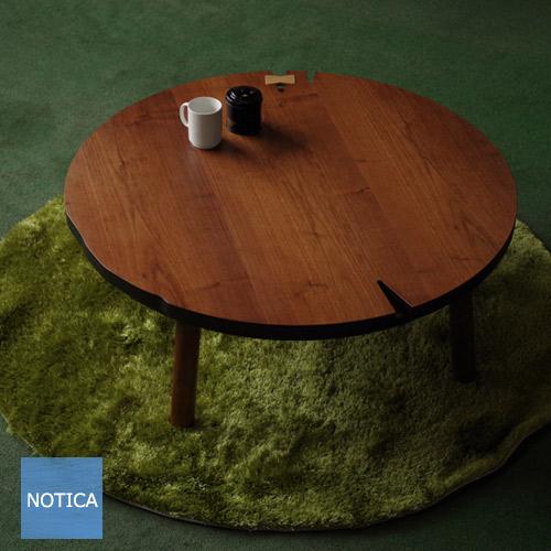 ヒーター無し NUDEWalnut105 丸 ヌードウォールナットまる こたつテーブル Takatatsu 北欧テイスト 円形コタツ 座卓 リビングテーブル 国産 日本製 タカタツ NUDEまる