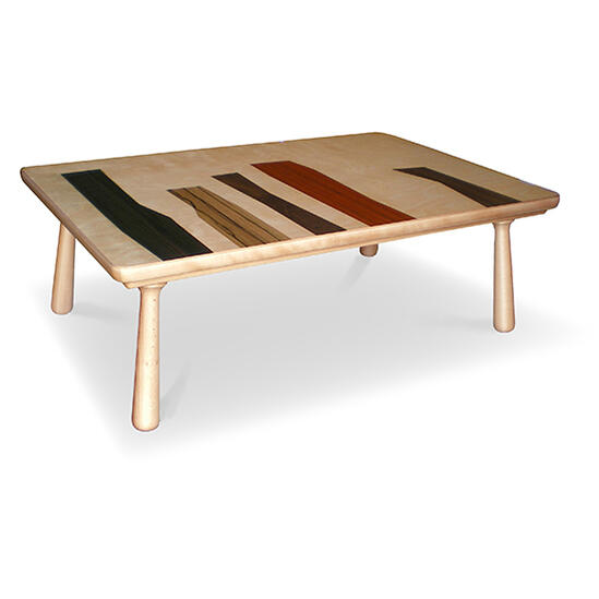 5色の天然木 ヒーター無し国産こたつテーブル120 コクタン ダオ ウォールナット カリン バーチ 多色使いローテーブル 座卓 リビングテーブル WOODPATTERN 北欧テイスト デザイナーズ kotatsu