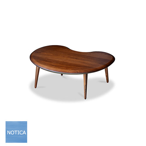 Bean ビーン 120 ウォールナット コタツ 幅120×奥行80×高38cm タカタツ Takatatsu 国産 日本製 ソファーテーブル こたつソファテーブル 変形天板 丸みのあるスタイル