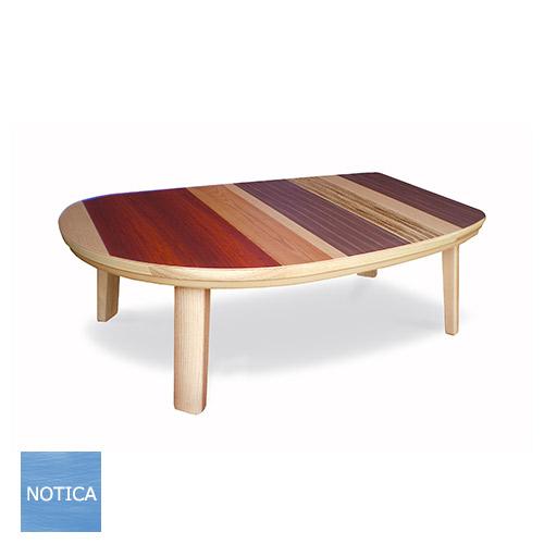 caro-caro2 135 かろかろ2 ウッドパターン デザインこたつ お部屋に馴染むカラフル天板 夏は座卓で 一年中使えるデザイン 5種天然木使用 変形天板 北欧テイスト タカタツ デザイナーズ