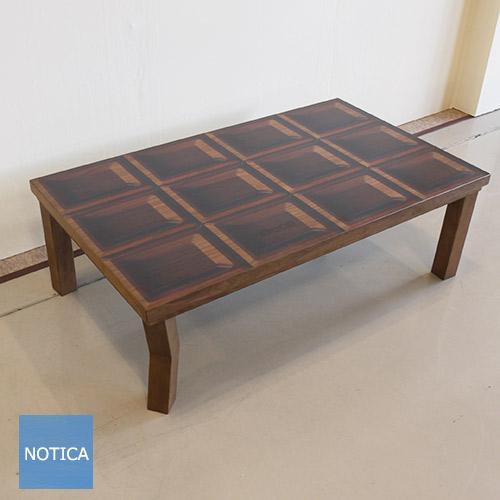 Deco chocolate デコ チョコレート 120 こたつテーブル ウォールナット Woodprint ウッドプリント デザインこたつ 夏は座卓で 一年中使えるデザイン 西海岸テイスト タカタツ Takatatsu