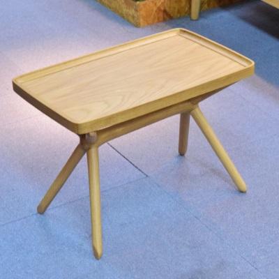 縦でも横でも使えるテーブル ザイドテーブル ミニテーブル 組み立て不要 接続部なし シーンに合わせて使える ブラウン ナチュラル 倒すだけで高さが変わる 楽々テーブル