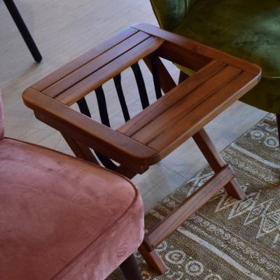 ウッドサイドテーブル 折り畳みサイドテーブル 雑誌ストック 可愛いサイドテーブル 天然木 ウッドテーブル テーブル 木 アカシア材