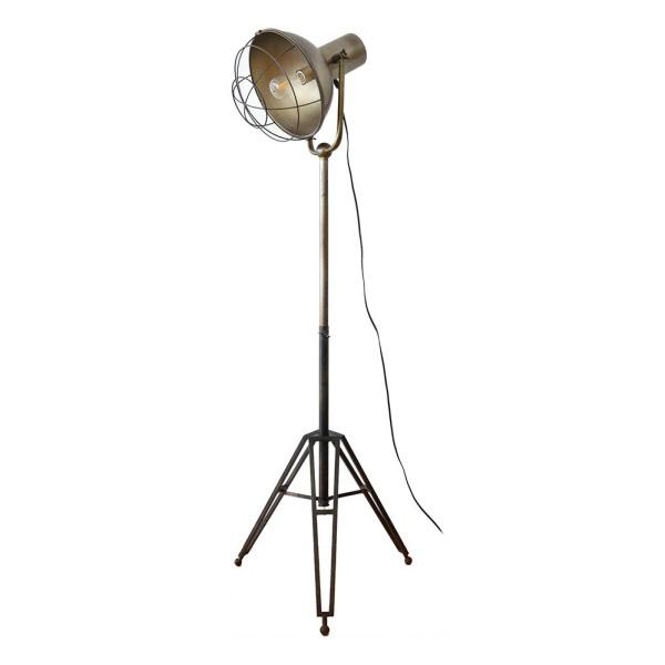 スタンドフロアライト お部屋を照らすライト 高さ調節可能 三脚 スチール フットスイッチ