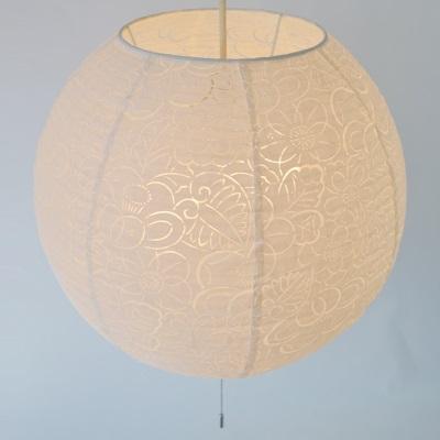 和紙ライト 球形ライト 本物の和紙ペンダントライト 植物のモチーフ 紅葉 椿 桜 天井照明 リビング 寝室などにも 優しい光 和室 和照明 新生活