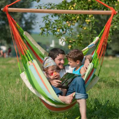 LA SIESTA チェアハンモック ハンモック 大き目 ロウンガーハンモック リラックスチェア代わりに 子供部屋 快適 室内 アウトドア チェア キッズチェア おしゃれ 楽しい 誕生日プレゼント 夏休み キャンプ ハンギングチェア ベランピング