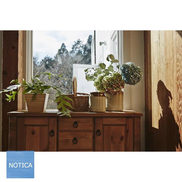 カントリーテイスト リビングボード95 サイドボード パイン材 収納家具 ナチュラルテイスト 収納力のあるタイプ 木製家具 レトロデザイン ファックス台 引き出しが一杯あるタイプ