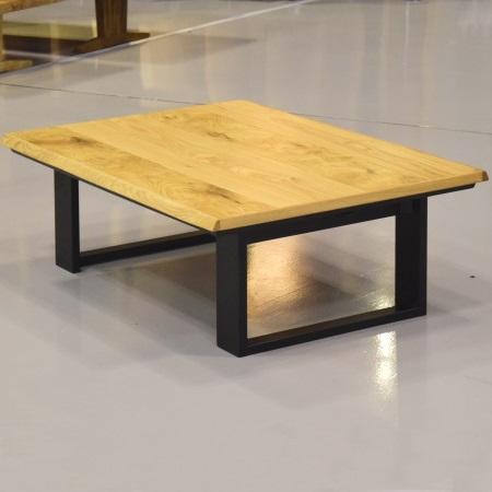 ラガット 国産 折れ脚 長方形 120 こたつ ローテーブル ナラ材 ナチュラル色 脚はブラック ナラ節付き 座卓 和風 和モダン スッキリとしたデザインで素材感を活かしています。折りたたみ式 こたつテーブル