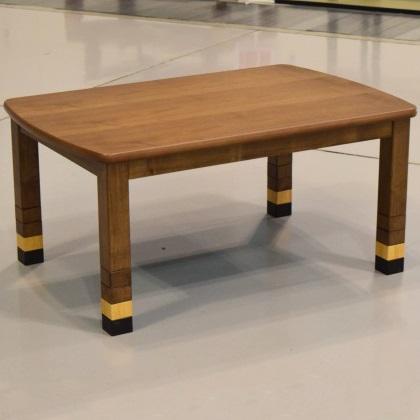 ブロック 国産 120 ウォールナット ローテーブル 座卓 こたつ 可愛い カラフル 継脚 4段階 ブラウン リビング 和室 洋室 座椅子にも合わせやすい テーブル こたつ