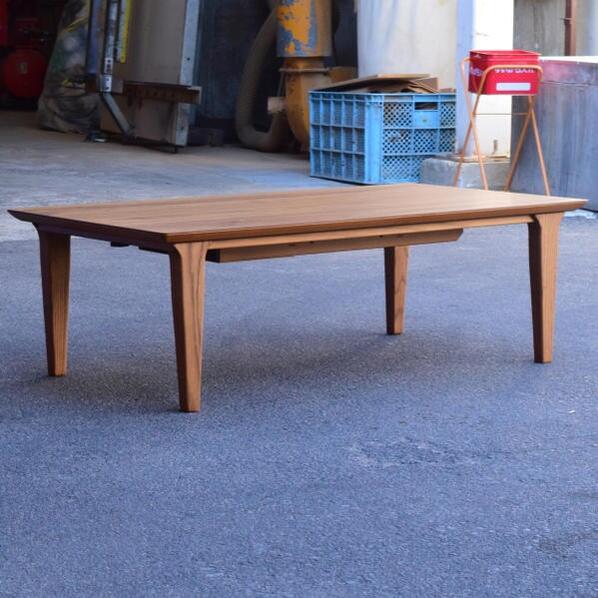 ロッコ スリムな脚のスタイリッシュこたつテーブル 120size 長方形 チーク材 オシャレで落ち着いた雰囲気 こたつ120×65 センターテーブル ローテーブル 最新モデル 国産 日本製 炬燵 北欧 デザイン リビングテーブル