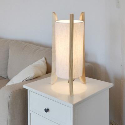 TUBOLIGHT テーブルランプ ライト リネン 天然木 ブラウン ホワイト 北欧デザインのランプ