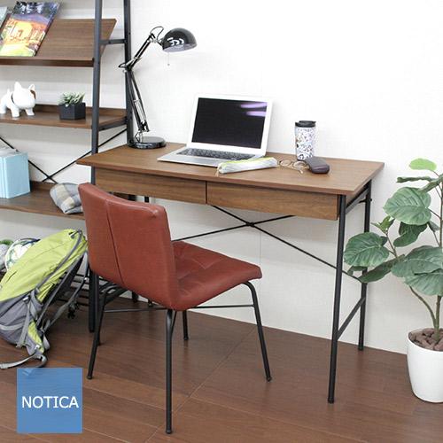スチールデスク アイアンデスク+チェア 2点セット デスクとチェアセット ワークデスク 幅100cm 勉強机 アイアン デスクチェア 1Pチェア キャメルブラウン 北欧テイスト ビンテージテイスト