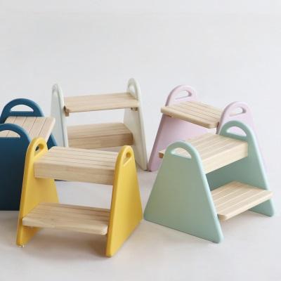 キッズチェア 供え キッズステップ ステップ台 お値打ち価格で カラフル ウッド製 三角形 可愛い お手伝い 軽量 子供椅子 かわいい 子供用 椅子 tina 踏み台 簡単組み立て 持ちやすい アイボリー