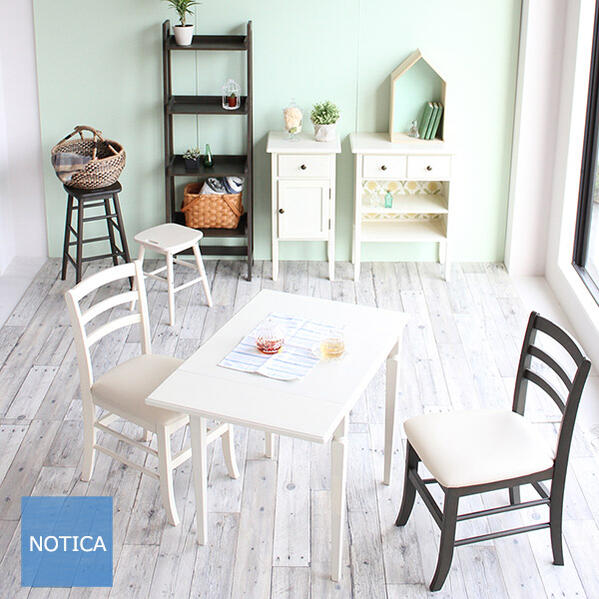 new!ビンテージホワイトなテーブルセット2人用 ダイニングセット コンパクトなテーブルとチェアのセット バタフライテーブル カントリーチェア 椅子 inereno スマートサイズ ホワイト デスク 大人ガーリー 一人 暮らし向き 新生活 白家具 レトロ 大人女子 ダイニング