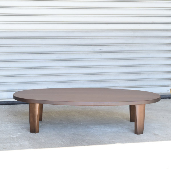 new!国産 折れ脚ローテーブル フルレ 150 オーバル ブラウン オーバル 楕円天板 和洋のお部屋に似合う座卓テーブル リビングテーブル ソファテーブル ファミリータイプ 折りたたみ式 センターテーブル 折れ脚 北欧テイスト