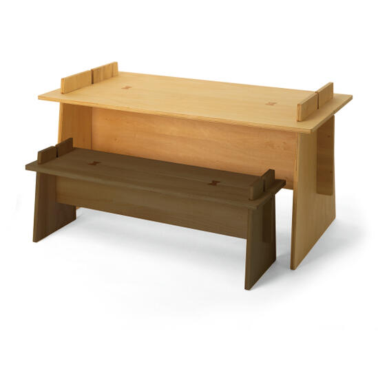 miyakonjo product GIUNTA ジュンタ 組立式 木製デスク (kid's) 子供用デスク デザイナーズインテリア 村澤一晃 木の温もりを感じる家具