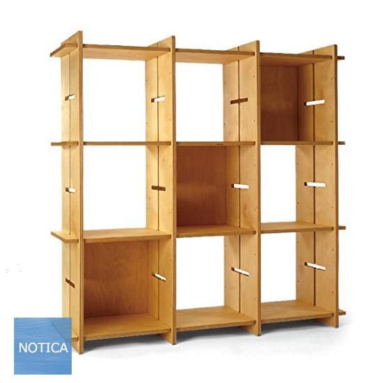 GIUNTA ジュンタ 3×3タイプ 工具不要 組立式 木製オープンシェルフ 幅114 デザイナーズインテリア 村澤 一晃miyakonjo product KUWAHATA 日本製 国産 受注生産品