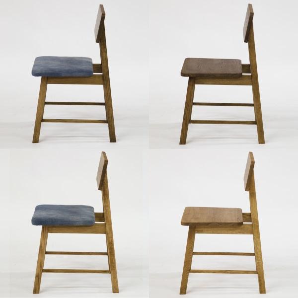 天然木チェア 青色デニム生地 特徴的な脚 北海道産ナラ材仕様 国産家具 Denim 二人掛け デニムベンチ 国産 ナラ材 無垢 ダイニングベンチ 無垢の椅子 無垢チェア ベンチチェア 4パターン
