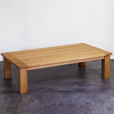 シンプルなこたつテーブル 120 スタンダードなデザイン ヴィンテージ加工 オーク材 ナラ材 ダークブラウン ライトブラウン