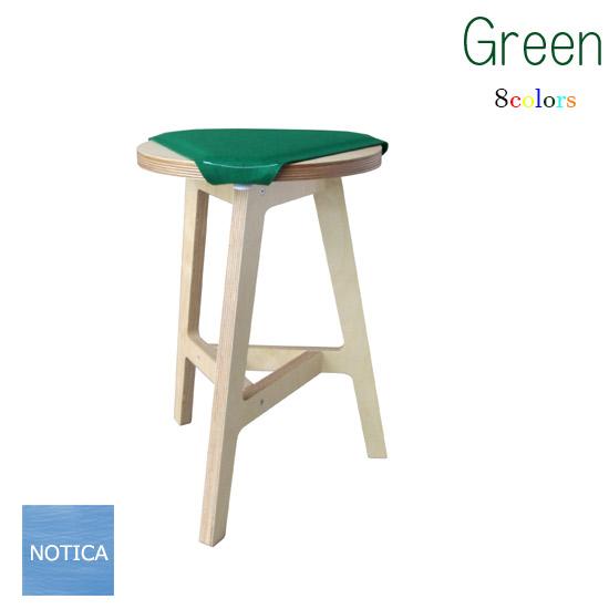abode F2A 木製スツール 軽量タイプ 組み立ても簡単です キッチンチェア 円形29cm 高さ42cm デザイナーズ家具 サイドテーブルにも 座面のパッドは8色から