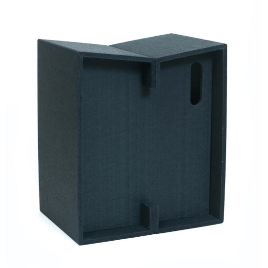 MIZO-Large abode 硬質フェルト材 フェルト製の折りたたみ式スツール 軽くて丈夫な加工フェルト【大サイズ】便利に使えるコンパクトに畳める椅子 厚み約5cmになります。feelt 日本製 国産 耐加重200kg