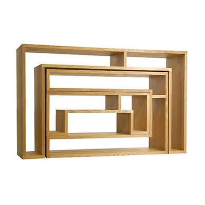 素材感のある棚 ラージコンソール スモールコンソール テーブル 違い棚のような棚 組木技術 飾り棚 素材の濃淡を感じられる 組み合わせ家具 ナチュラル ブラウン 新生活